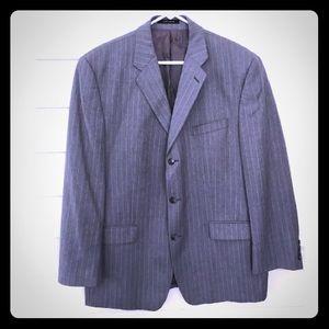 CK Mens 44R Gray Pinstripe Blazer Jacket
